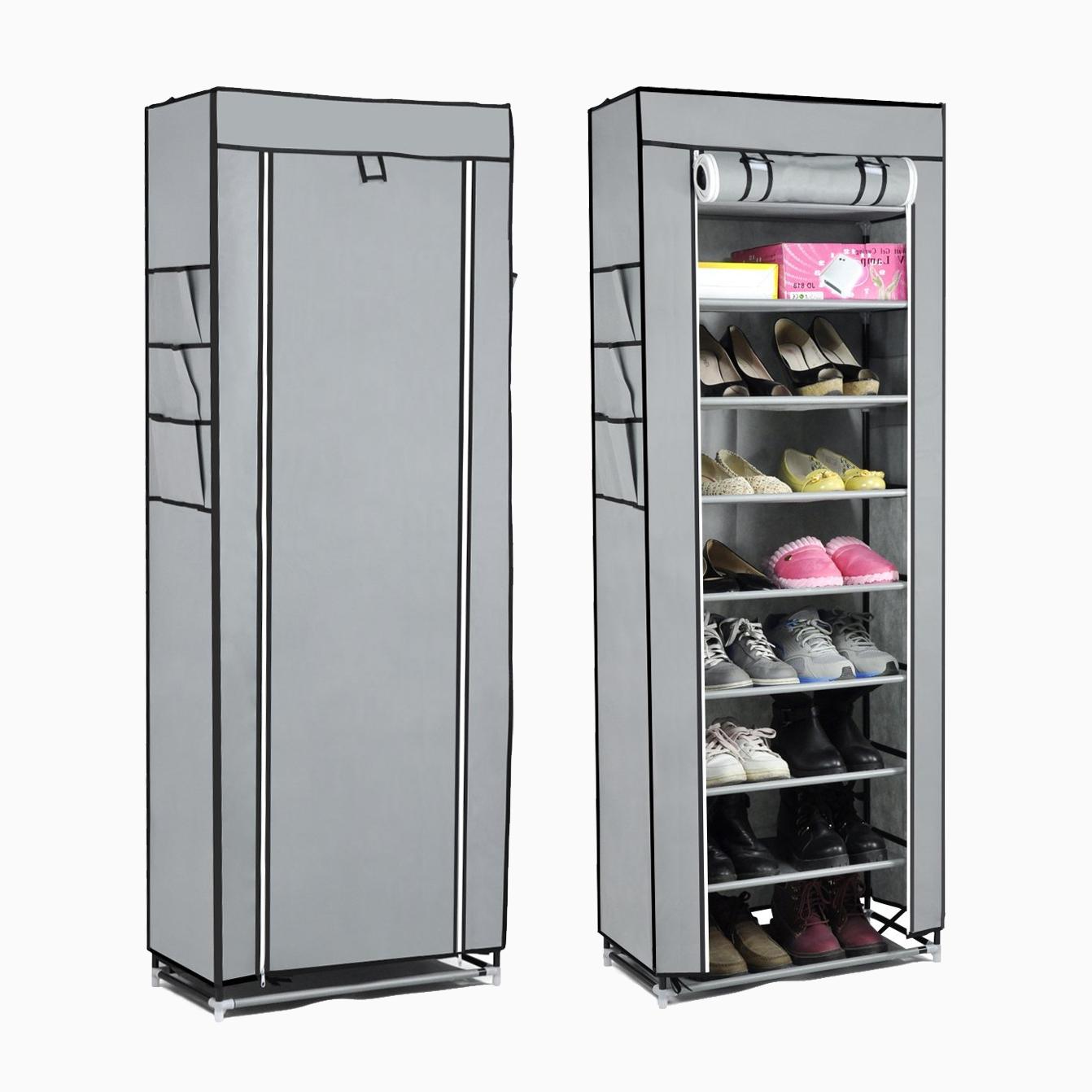 10tier lona tela zapatero zapatos organizador armario de for Armario zapatero de tela
