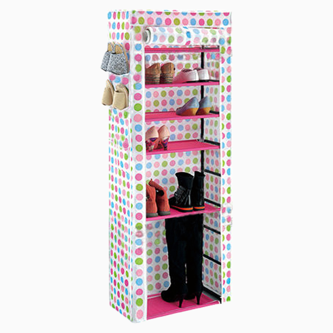 10tier toile tissu porte chaussure chaussures organisateur meuble rangement ebay. Black Bedroom Furniture Sets. Home Design Ideas