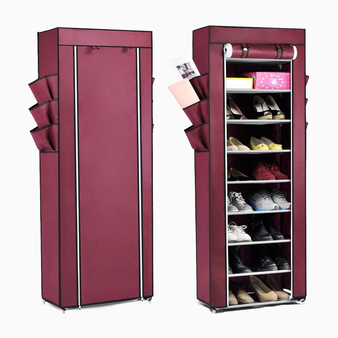10tier lona tela zapatero zapatos organizador armario de for Armario zapatero amazon