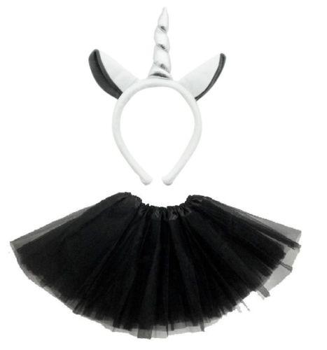Donna-animale-Costume-Tutu-accessorio-festa-ragazze-ORECCHIE-FIOCCO-Coda-Set