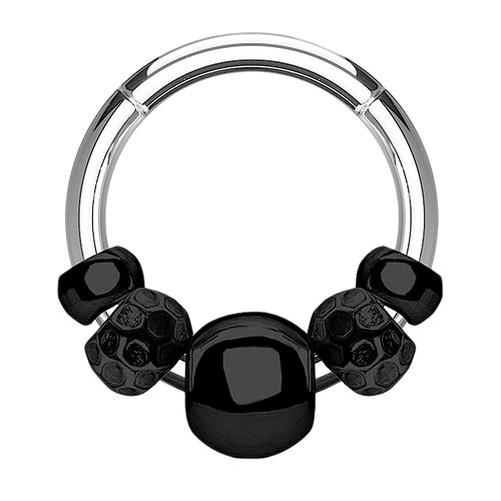 Septum-Piercing-Clicker-Universal-Oreja-Anillo-Con-Movible-Tribal-Perlas-Bolas