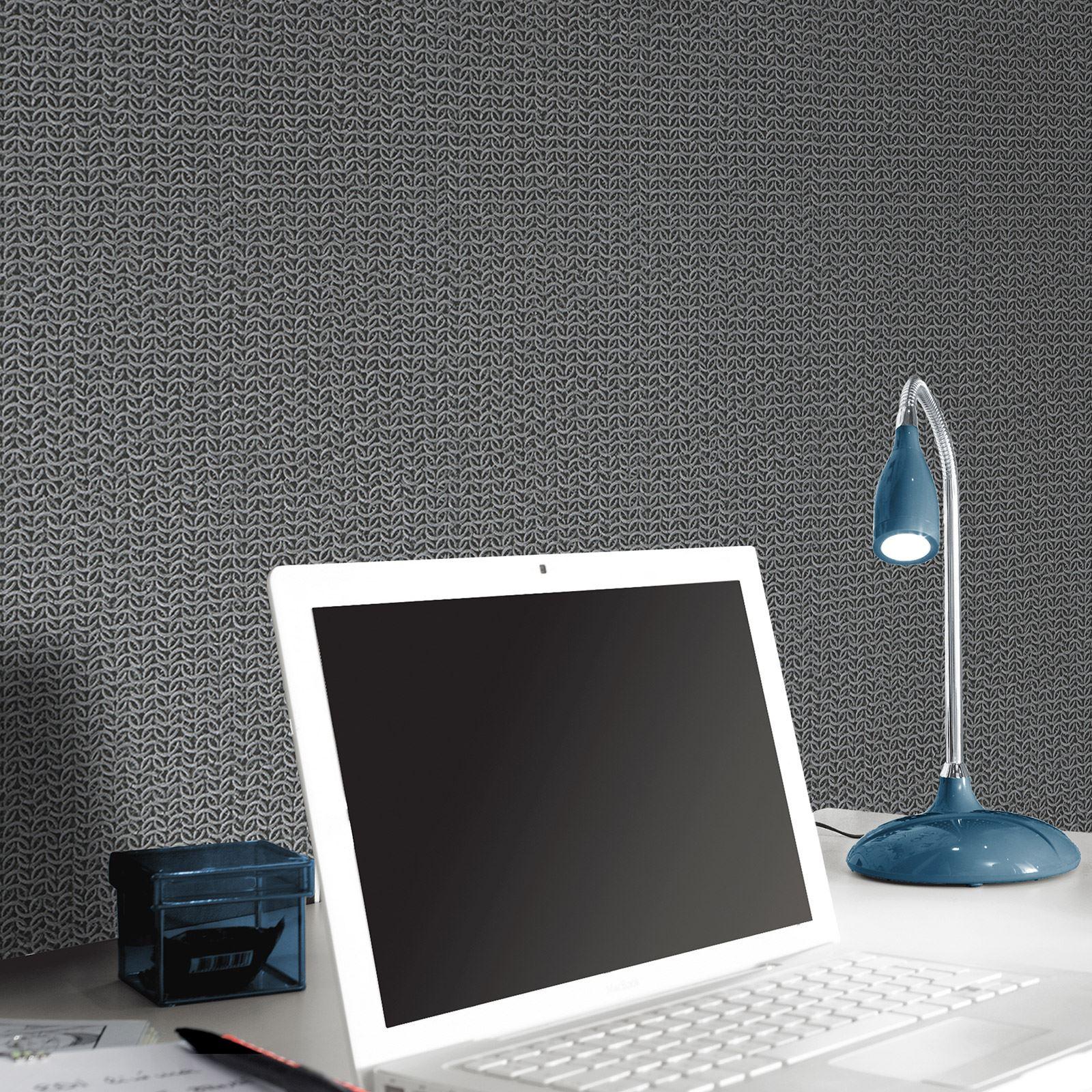 grau tapete gemustert sterne blumenmuster federn b ume. Black Bedroom Furniture Sets. Home Design Ideas