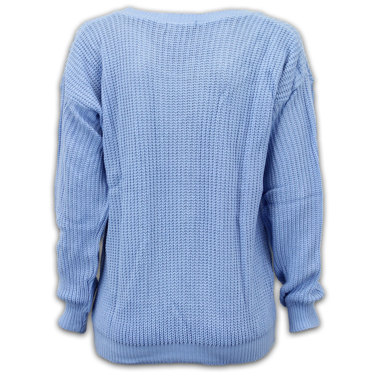Ladies-Jumper-Womens-Top-Chunky-Fish-Knit-Oversized-Off-Shoulder-Scoop-Neck-New