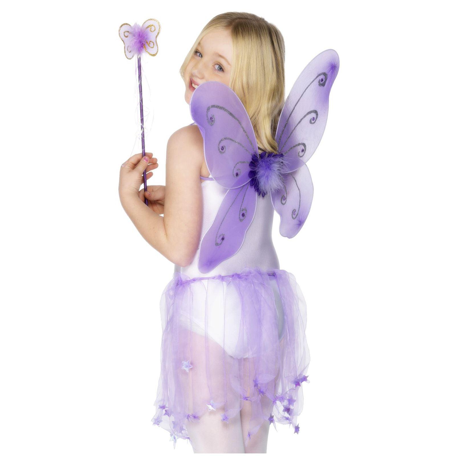 Mariposa alas Niño Púrpura - varita Fantasía vestido Niñas hada ...