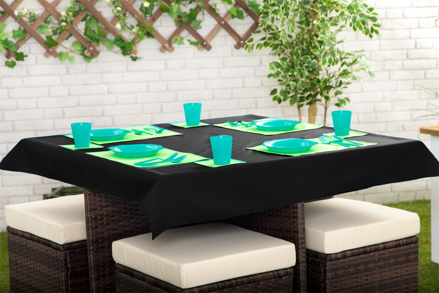 Outdoor Waterproof Garden Dining Table Cloths Place Mats  : 3318689189792736I129265GD201st20BLACK from www.ebay.com.au size 880 x 587 jpeg 154kB