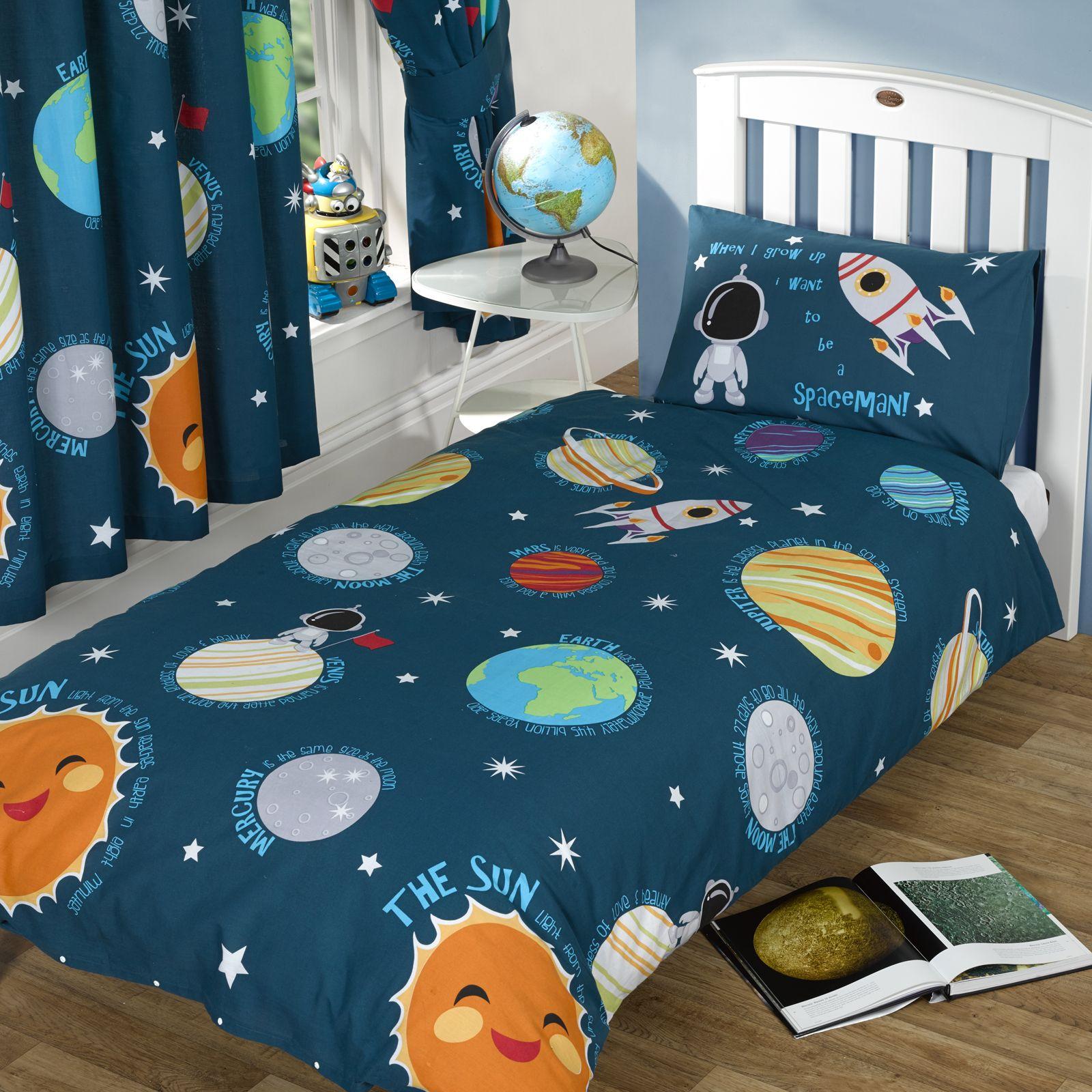 Sistema solar conjunto de funda Nórdica individual Niños hombre