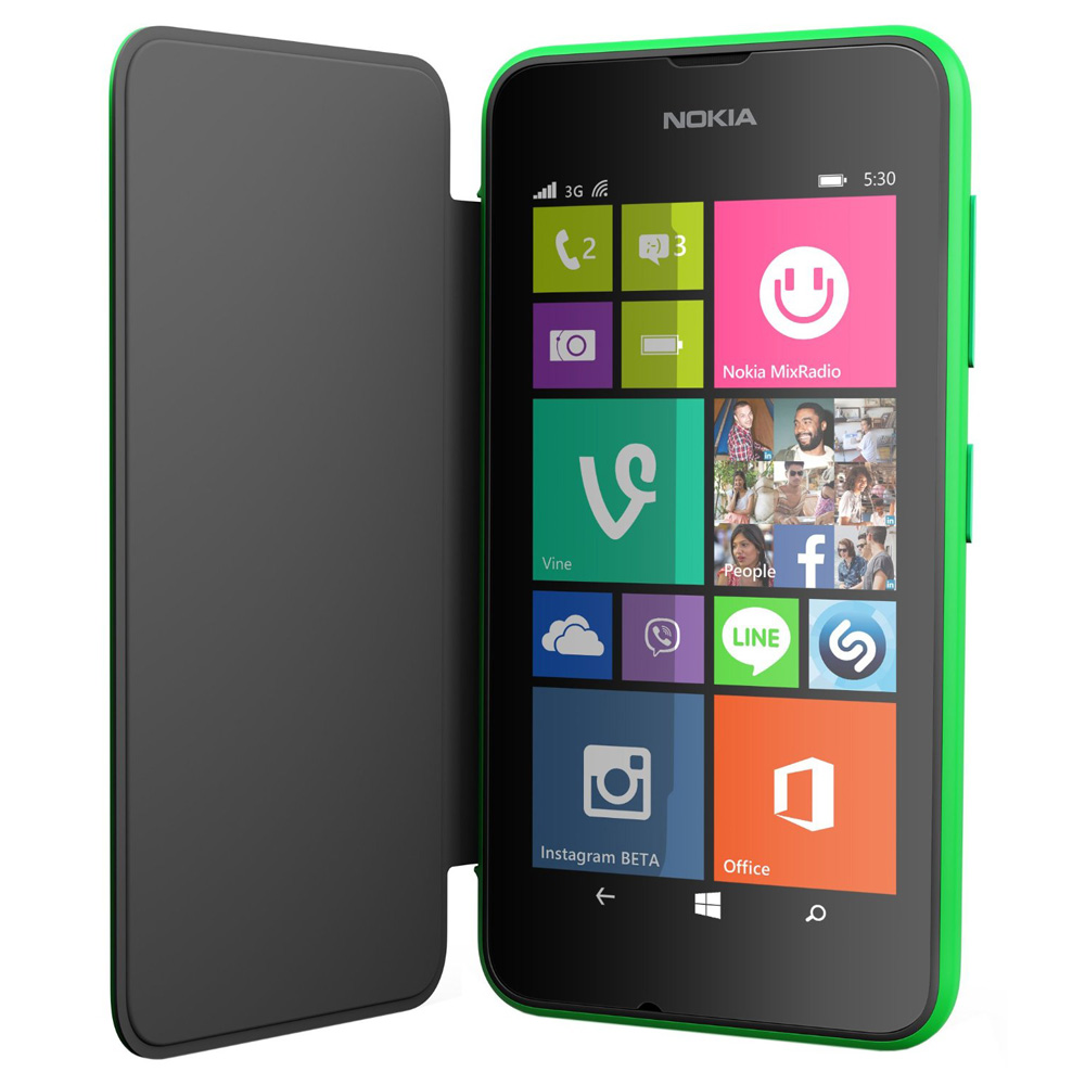 super popular 5ba51 0c751 Details about Smart Flip Cover CC-3087 for Nokia Lumia 530 Clip-On Hard  Shell Folio Case