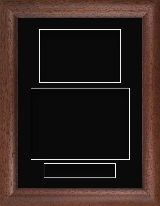 21.6cmx29.2cm Madera Oscura Cojín Retrato Profundo Sombra Caja Marco ...