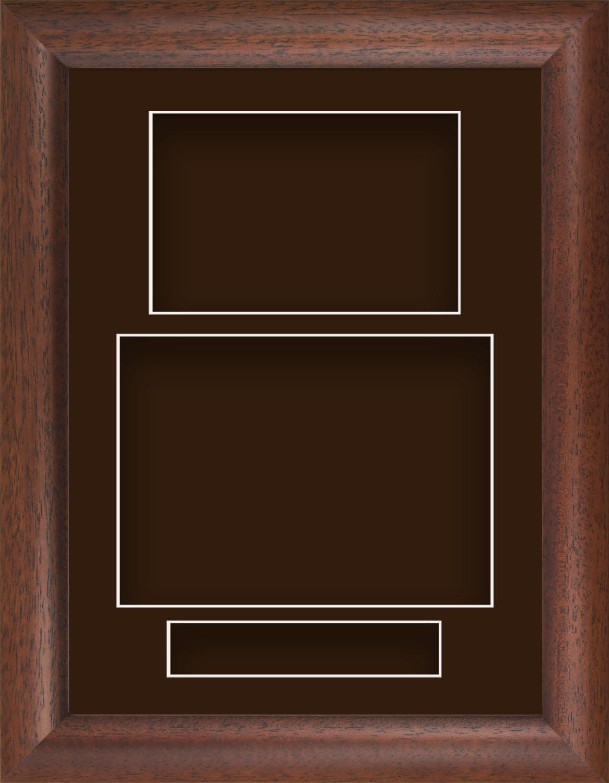 21.6cm X 29.2cm Madera Oscura Cojín Retrato Profundo Shadow Caja ...