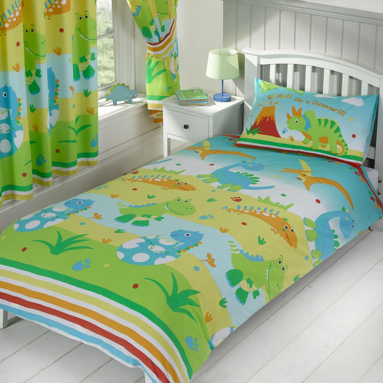 Ragazzi biancheria da letto singolo doppio copripiumini dinosauro esercito ebay - Biancheria da letto ...