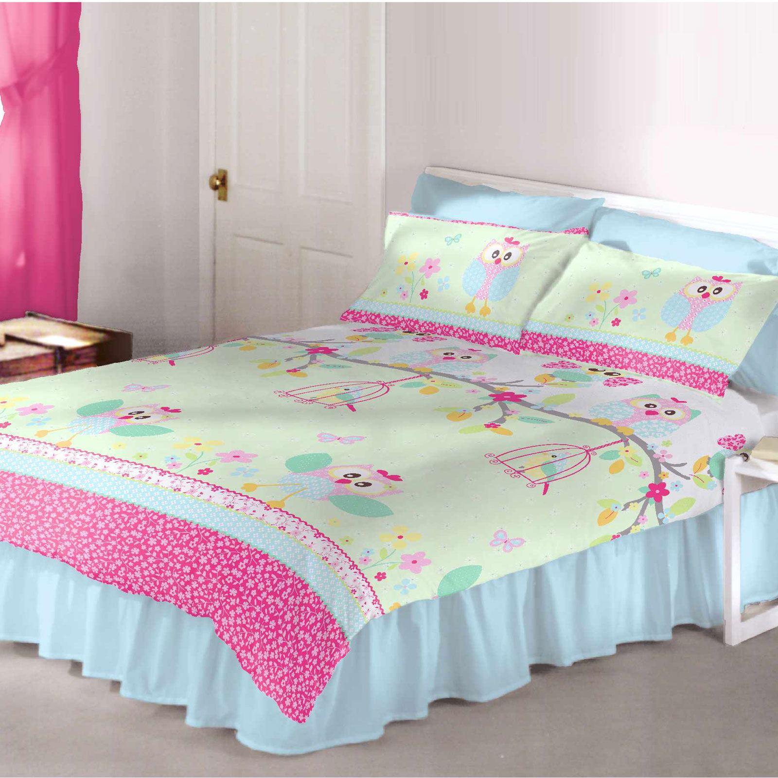 m dchen bettw sche junior einzeln doppel bettbez ge einh rner ponys ebay. Black Bedroom Furniture Sets. Home Design Ideas