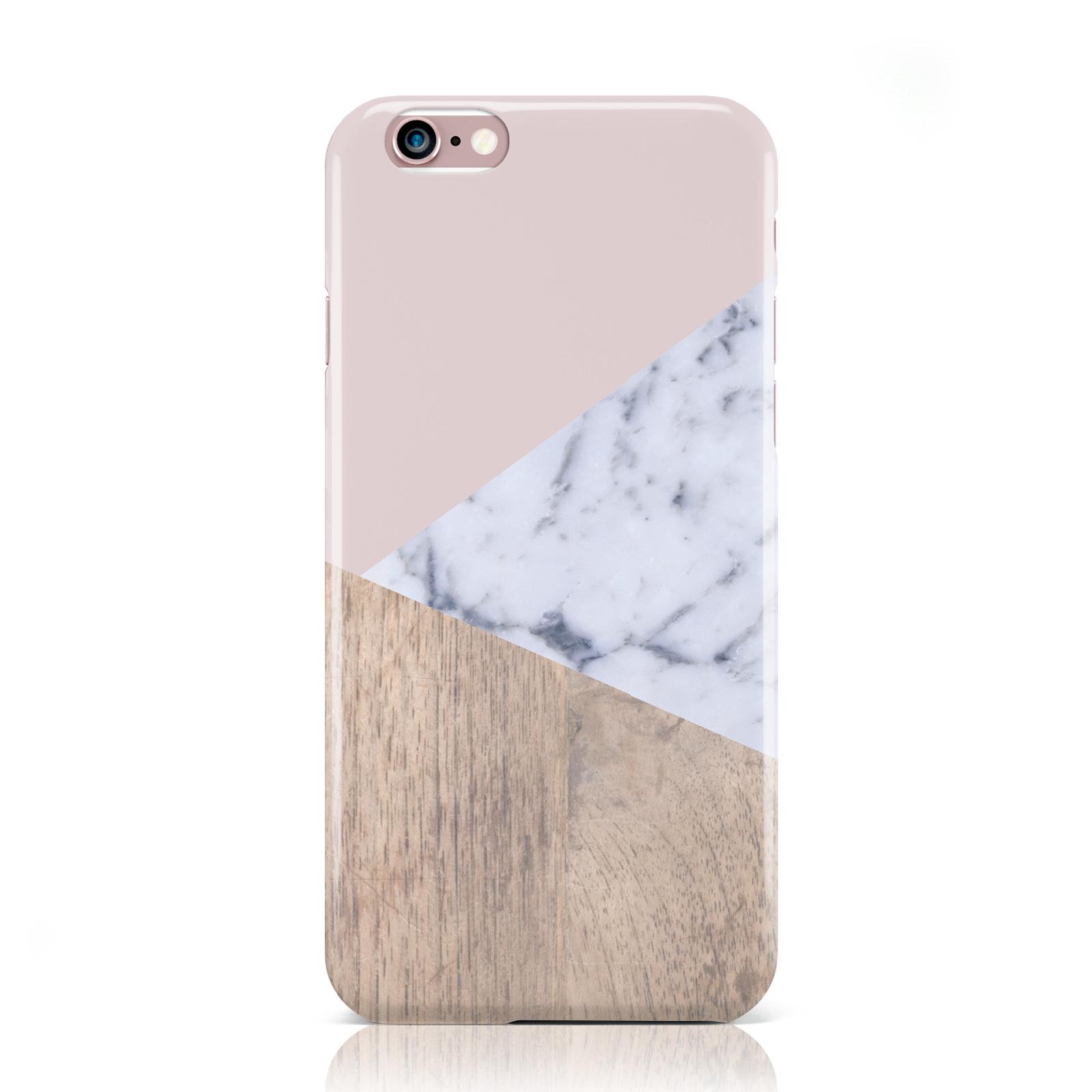 dyefor holz marmor geometrische hartschale case f r apple iphone handys. Black Bedroom Furniture Sets. Home Design Ideas