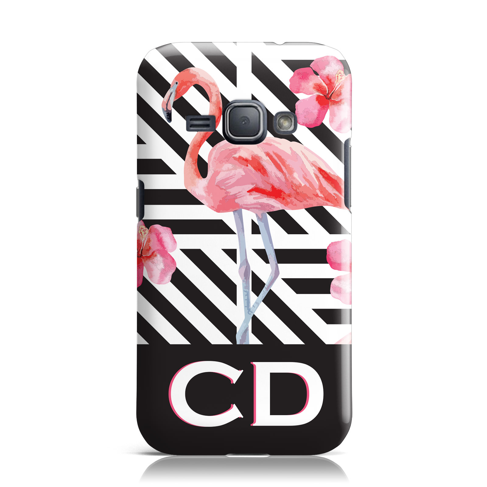 PERSONNALISE-INITIALES-FLAMANTS-ROSES-1-COQUE-POUR-SAMSUNG-GALAXY
