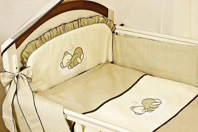 5er packung baby kinderzimmer bettw sche nestchen set passend f r gitterbett ebay. Black Bedroom Furniture Sets. Home Design Ideas