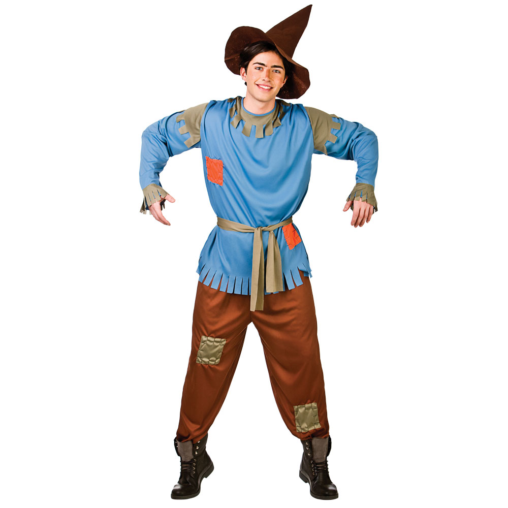 adults mens scarecrow straw man outfit fancy dress up party