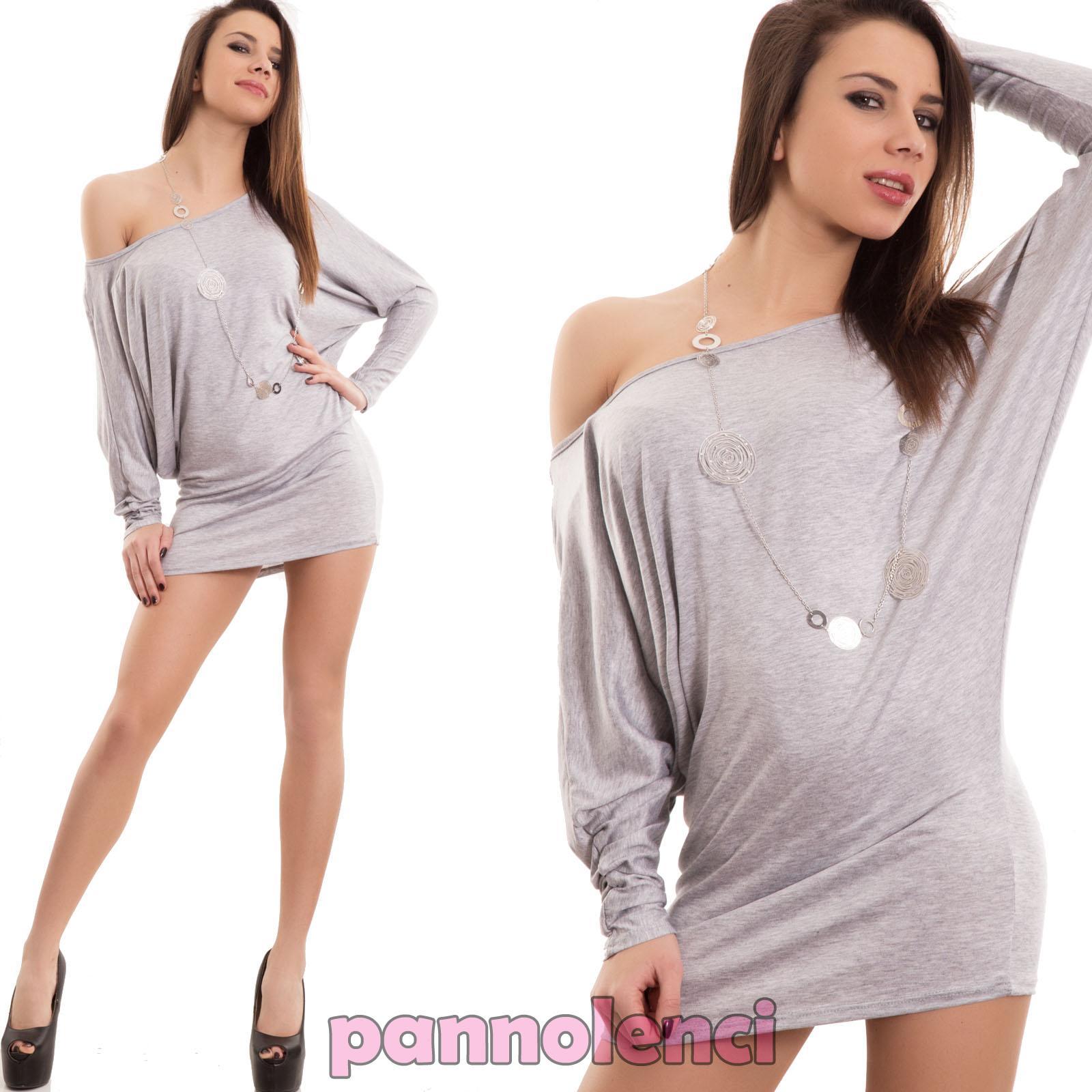 Vestido de mujer minivestido maxi suéter de manga larga murciélago ...