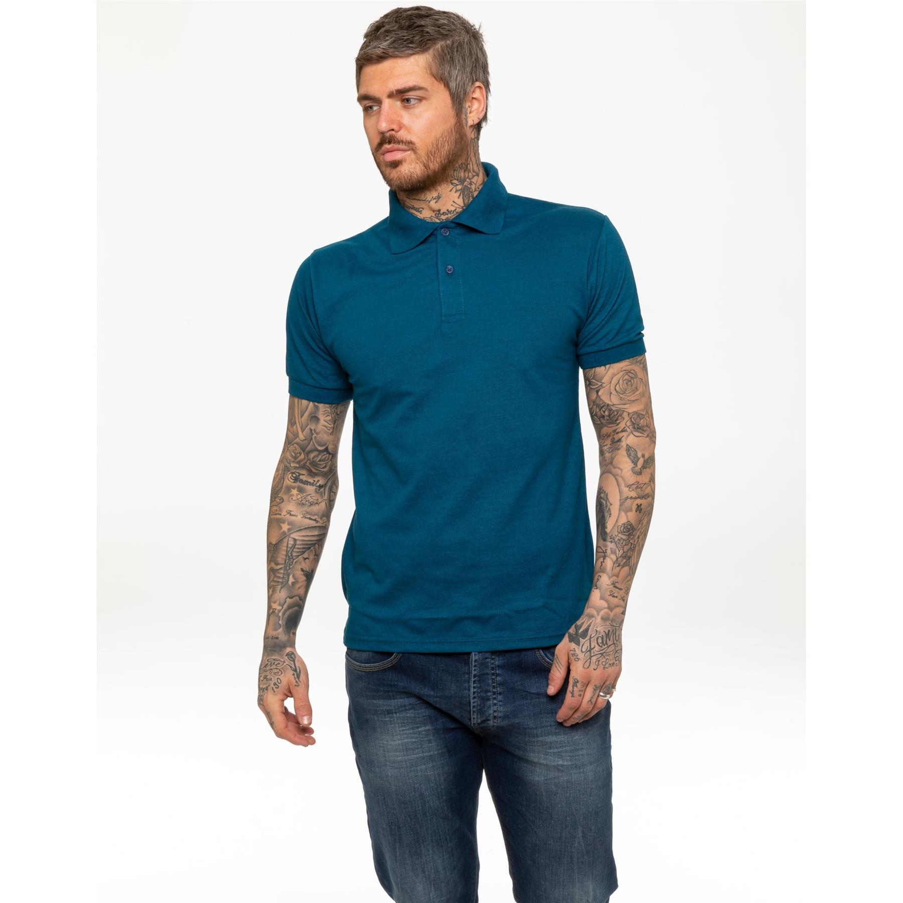 Indexbild 27 - Herren Polohemd Freizeit T-Shirts Neu Schlicht Kurzärmeliges Regular Fit