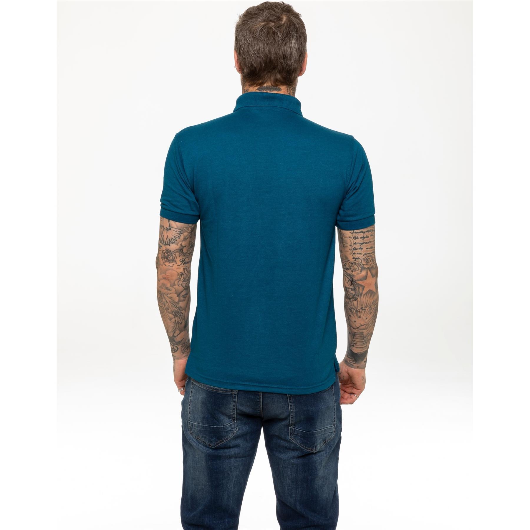 Indexbild 29 - Herren Polohemd Freizeit T-Shirts Neu Schlicht Kurzärmeliges Regular Fit