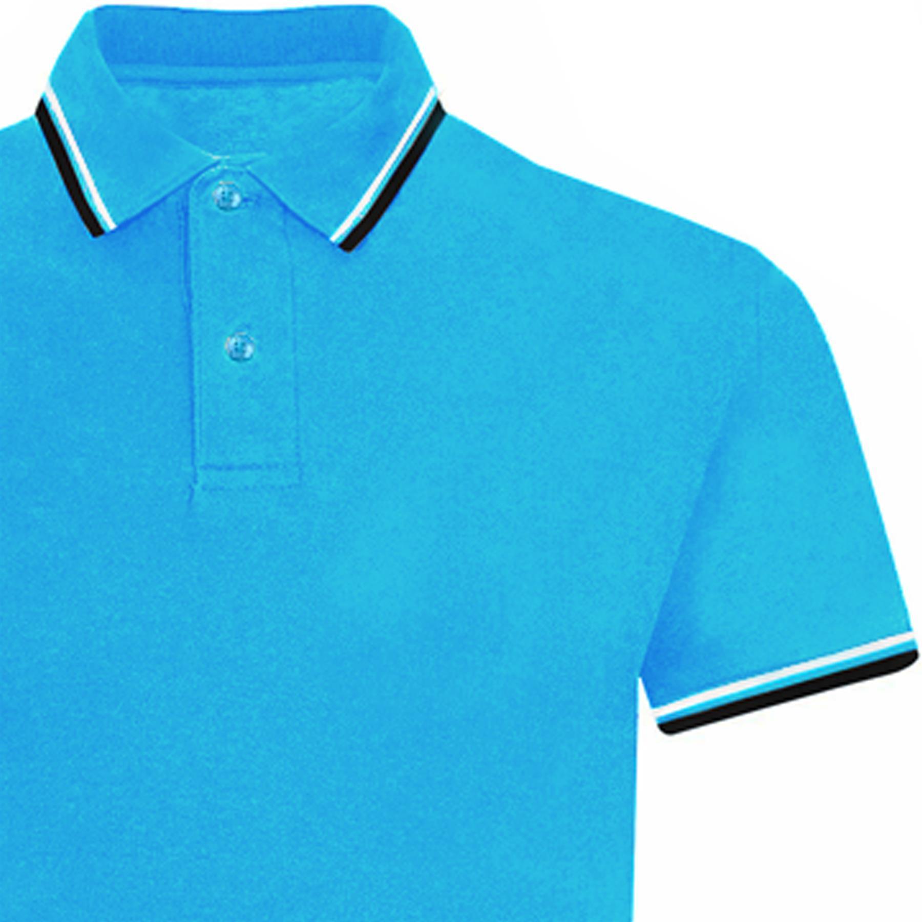 Indexbild 72 - Herren Polohemd Freizeit T-Shirts Neu Schlicht Kurzärmeliges Regular Fit