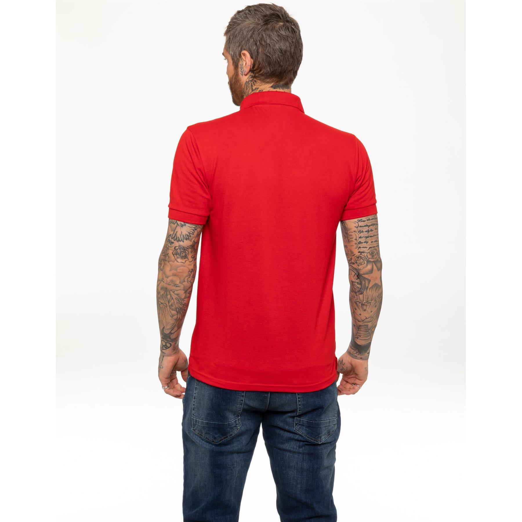 Indexbild 40 - Herren Polohemd Freizeit T-Shirts Neu Schlicht Kurzärmeliges Regular Fit