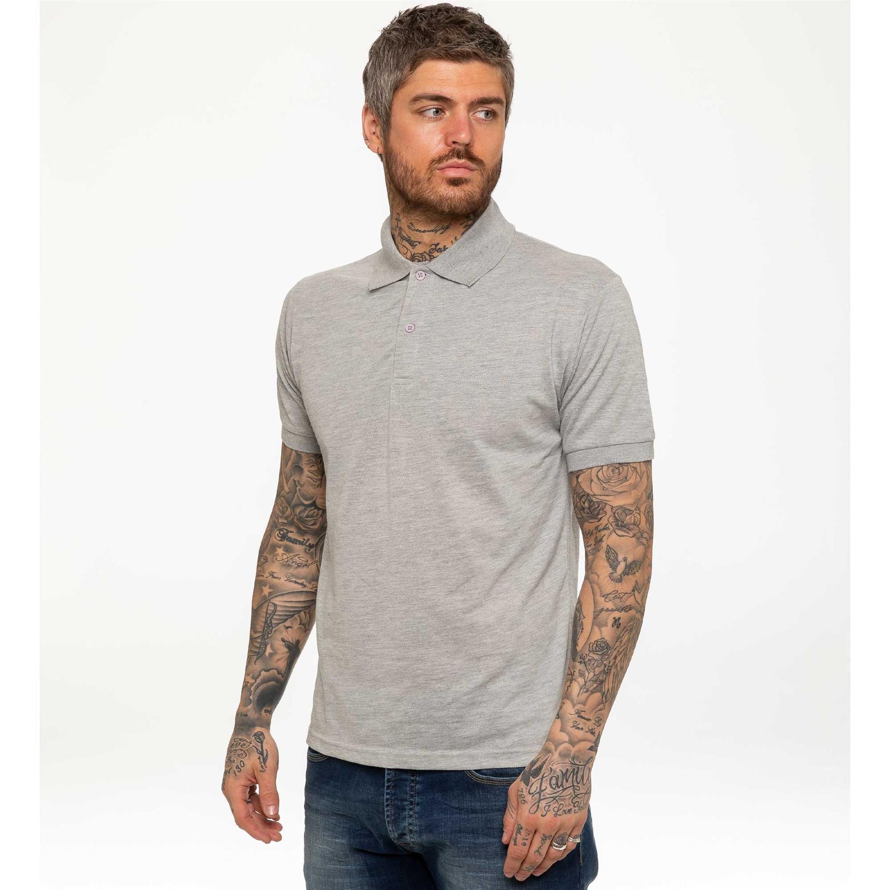 Indexbild 20 - Herren Polohemd Freizeit T-Shirts Neu Schlicht Kurzärmeliges Regular Fit