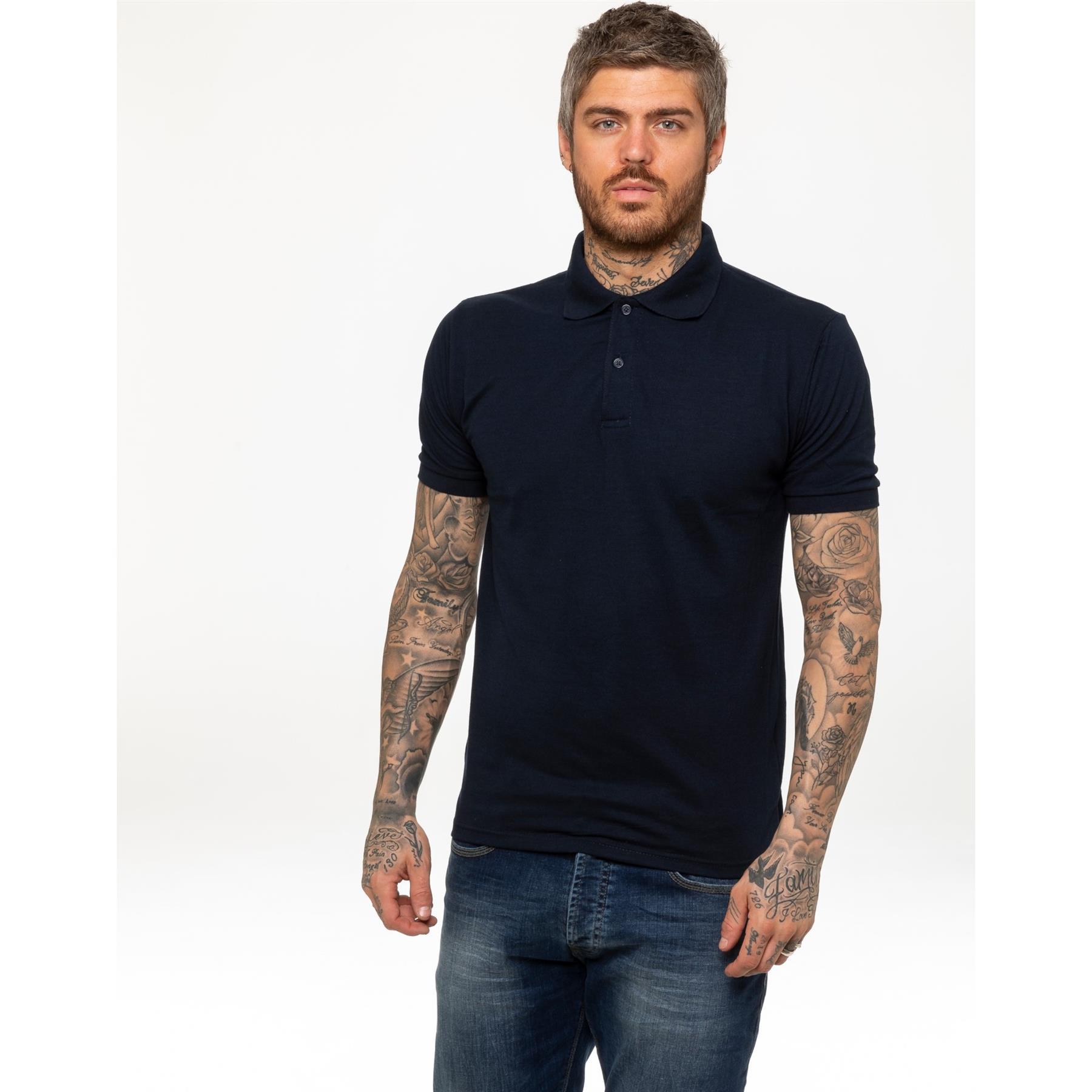 Indexbild 10 - Herren Polohemd Freizeit T-Shirts Neu Schlicht Kurzärmeliges Regular Fit