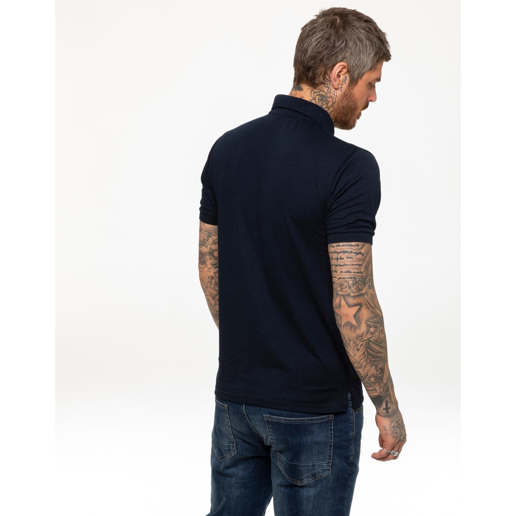 Indexbild 12 - Herren Polohemd Freizeit T-Shirts Neu Schlicht Kurzärmeliges Regular Fit