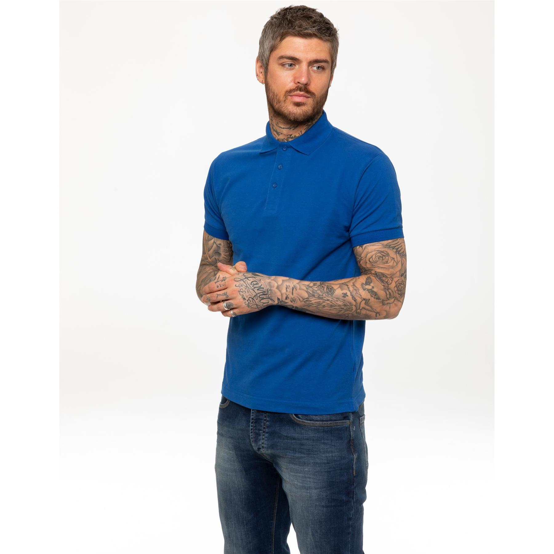 Indexbild 49 - Herren Polohemd Freizeit T-Shirts Neu Schlicht Kurzärmeliges Regular Fit