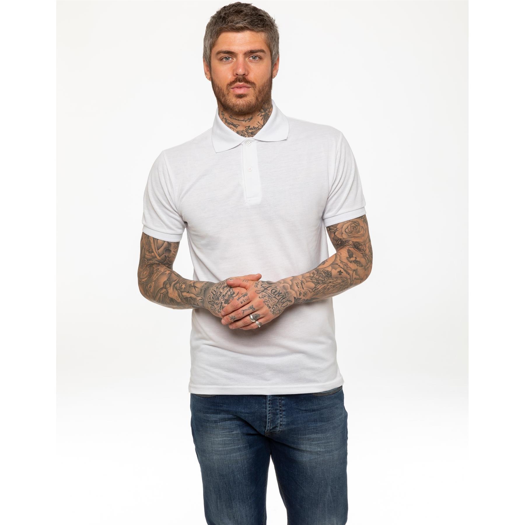 Indexbild 58 - Herren Polohemd Freizeit T-Shirts Neu Schlicht Kurzärmeliges Regular Fit