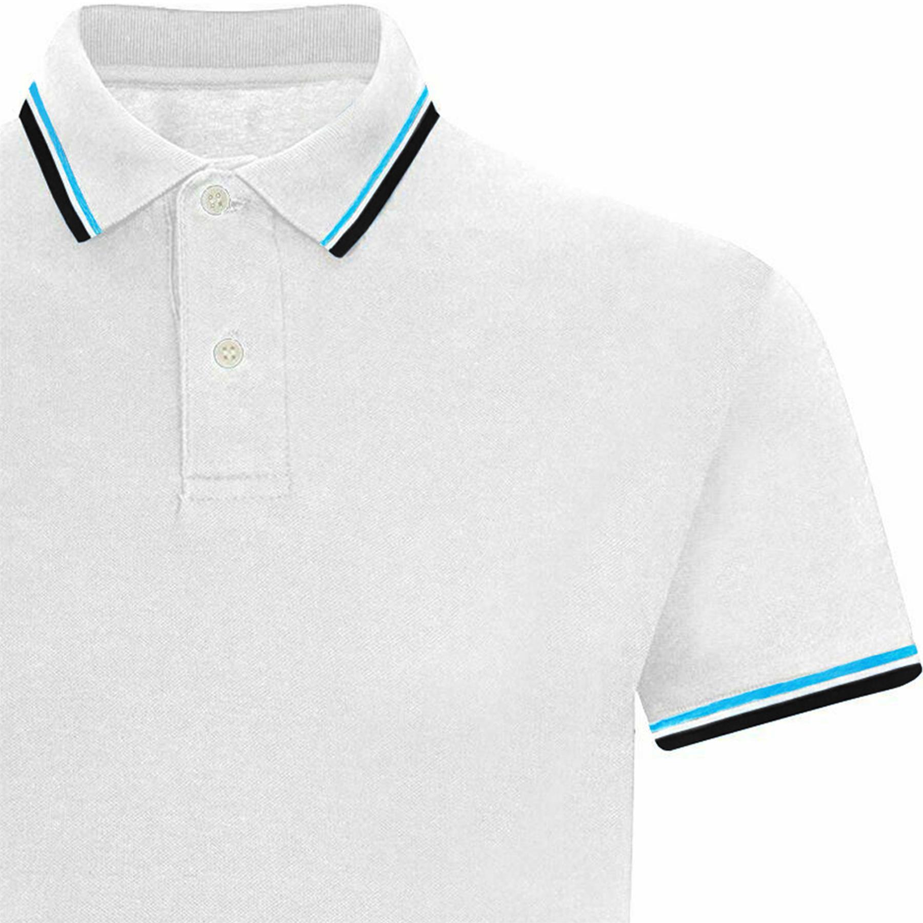 Indexbild 78 - Herren Polohemd Freizeit T-Shirts Neu Schlicht Kurzärmeliges Regular Fit