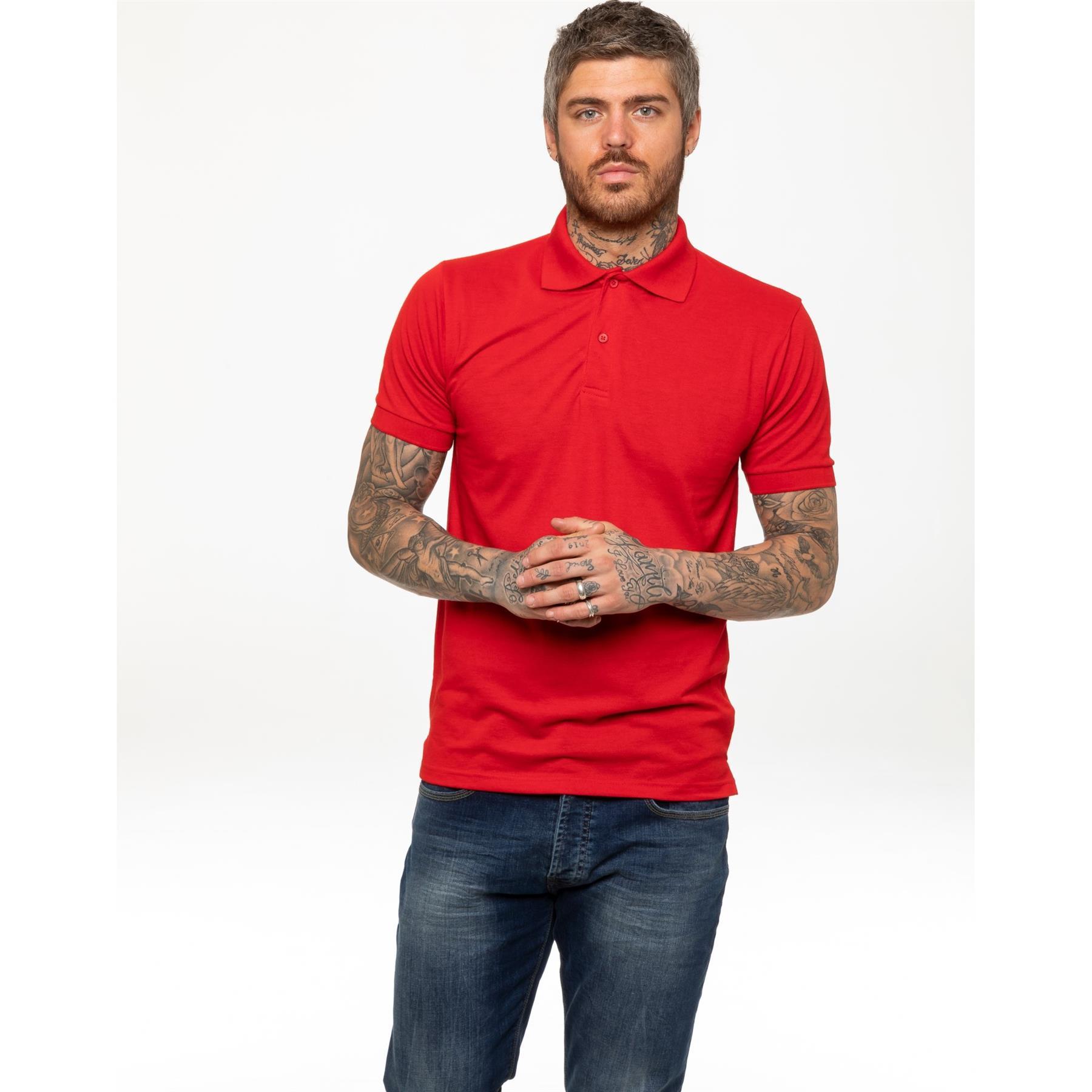 Indexbild 38 - Herren Polohemd Freizeit T-Shirts Neu Schlicht Kurzärmeliges Regular Fit
