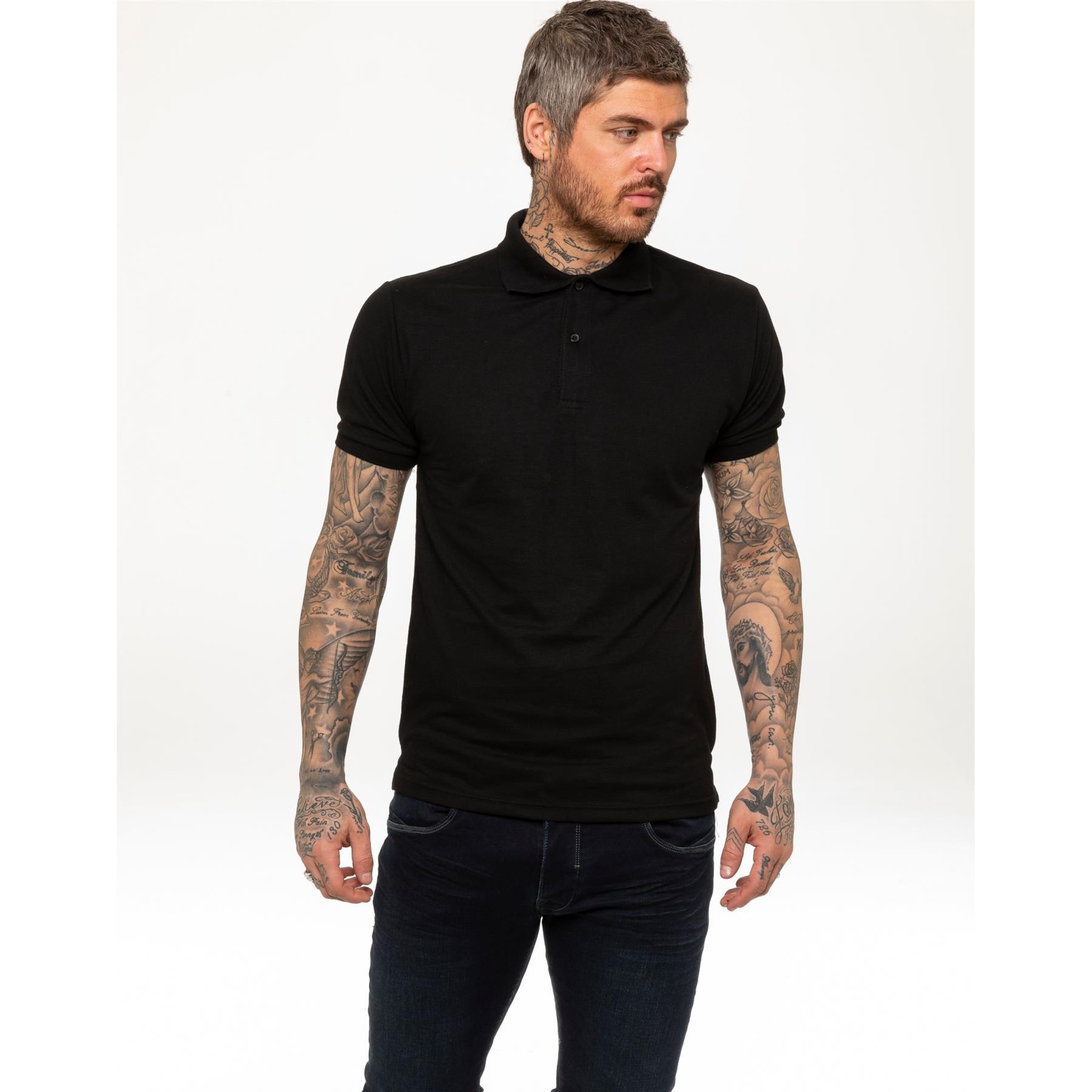Indexbild 2 - Herren Polohemd Freizeit T-Shirts Neu Schlicht Kurzärmeliges Regular Fit