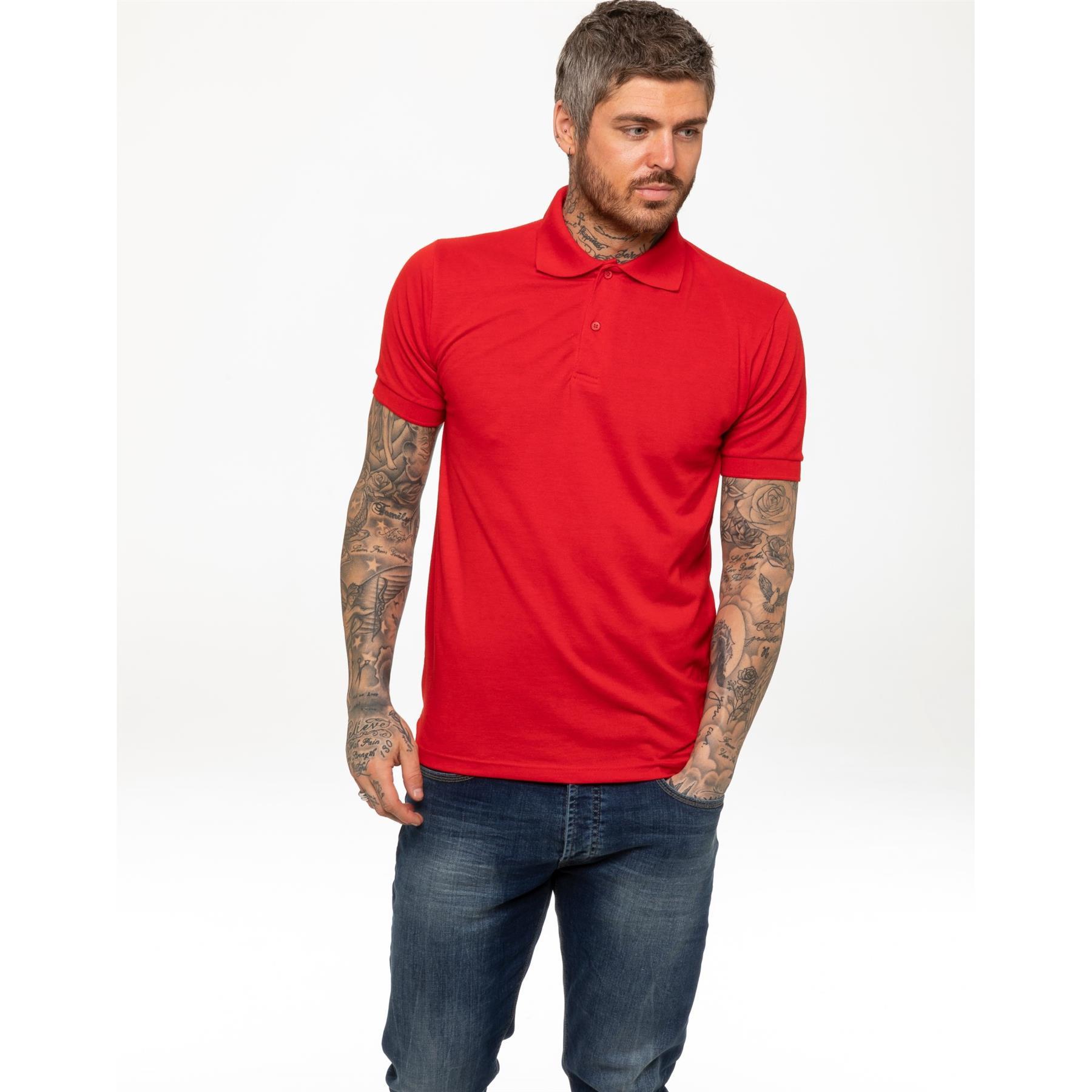 Indexbild 39 - Herren Polohemd Freizeit T-Shirts Neu Schlicht Kurzärmeliges Regular Fit