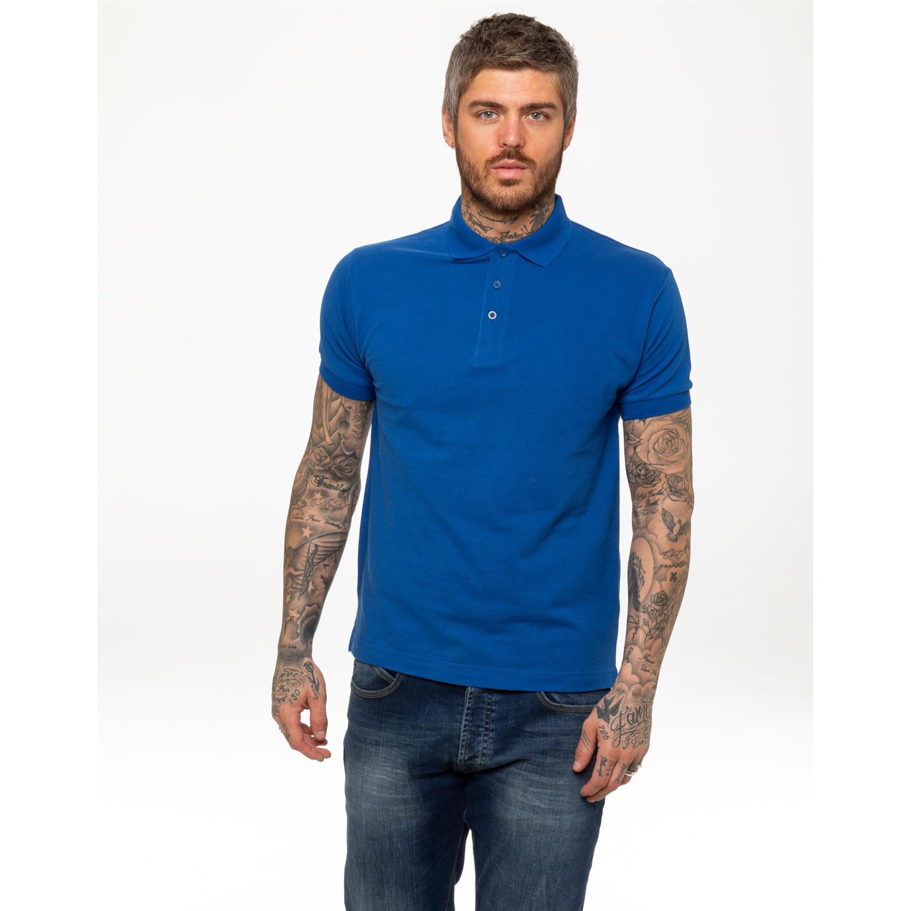 Indexbild 47 - Herren Polohemd Freizeit T-Shirts Neu Schlicht Kurzärmeliges Regular Fit