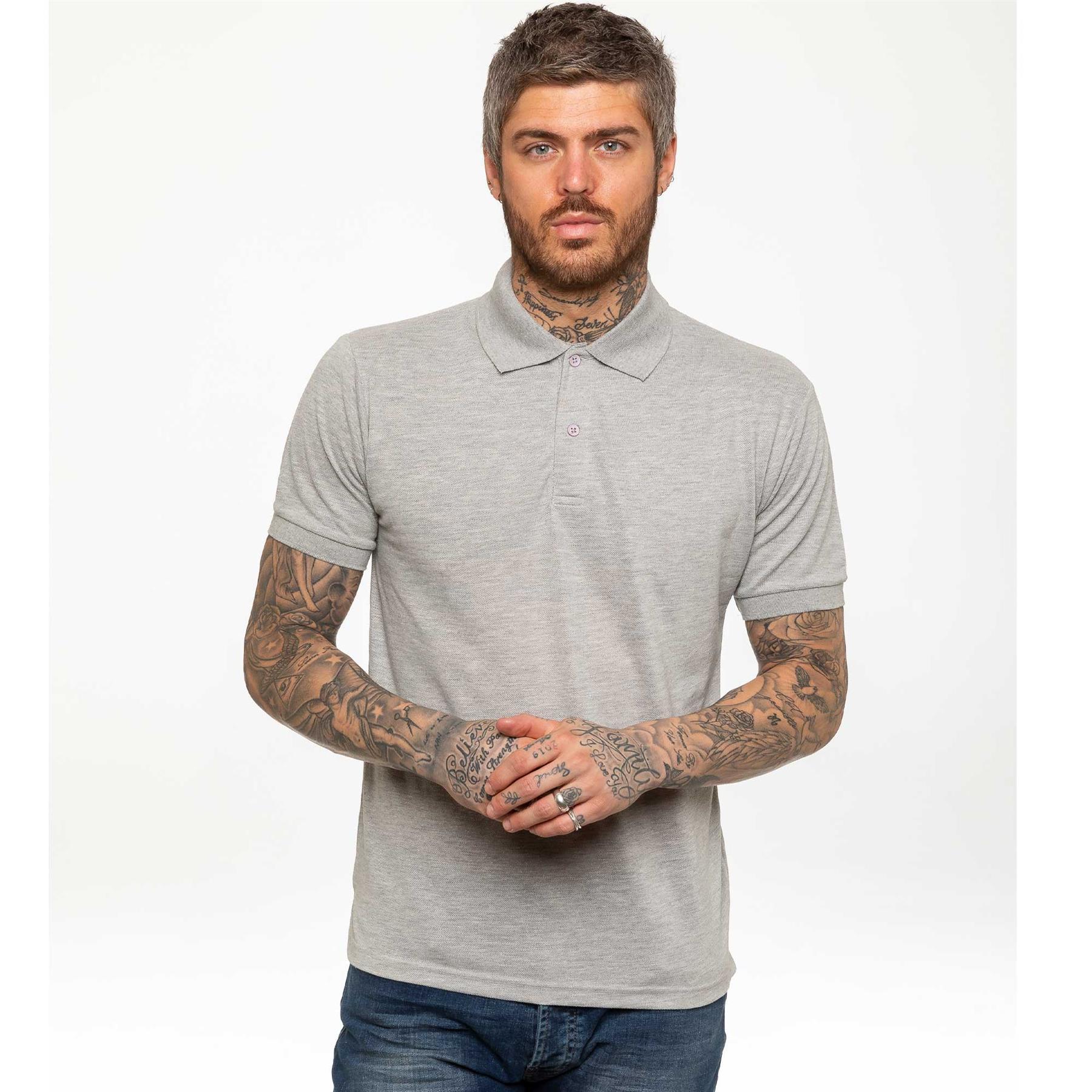 Indexbild 19 - Herren Polohemd Freizeit T-Shirts Neu Schlicht Kurzärmeliges Regular Fit