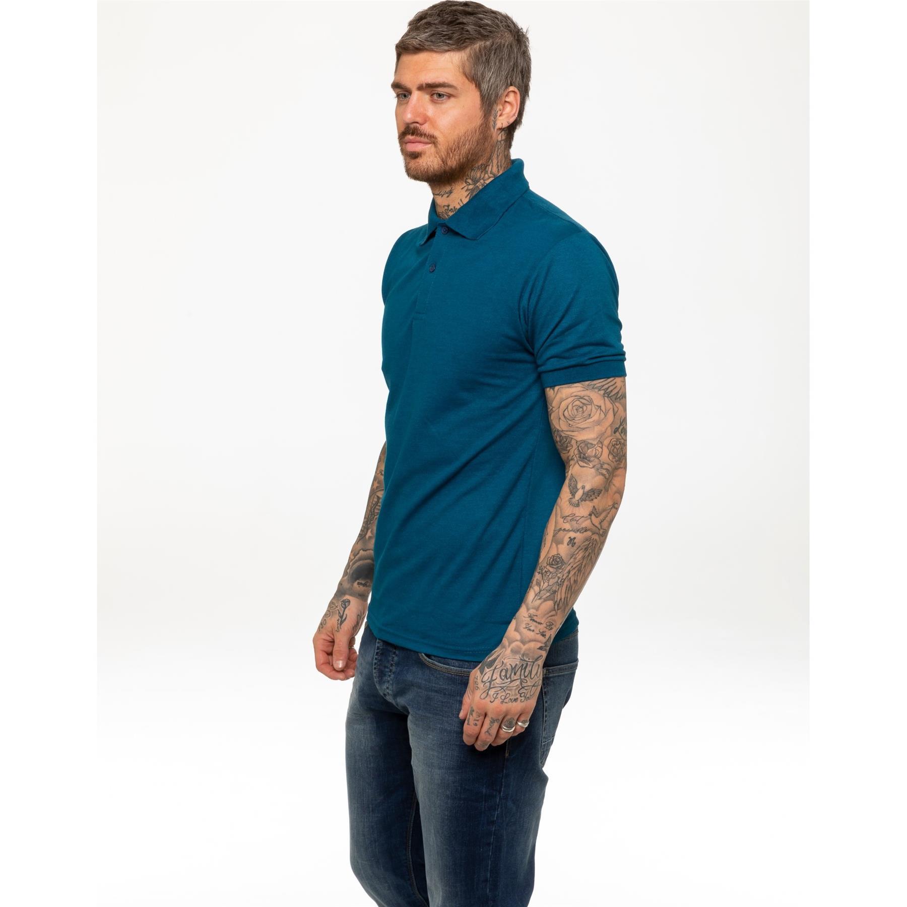 Indexbild 30 - Herren Polohemd Freizeit T-Shirts Neu Schlicht Kurzärmeliges Regular Fit