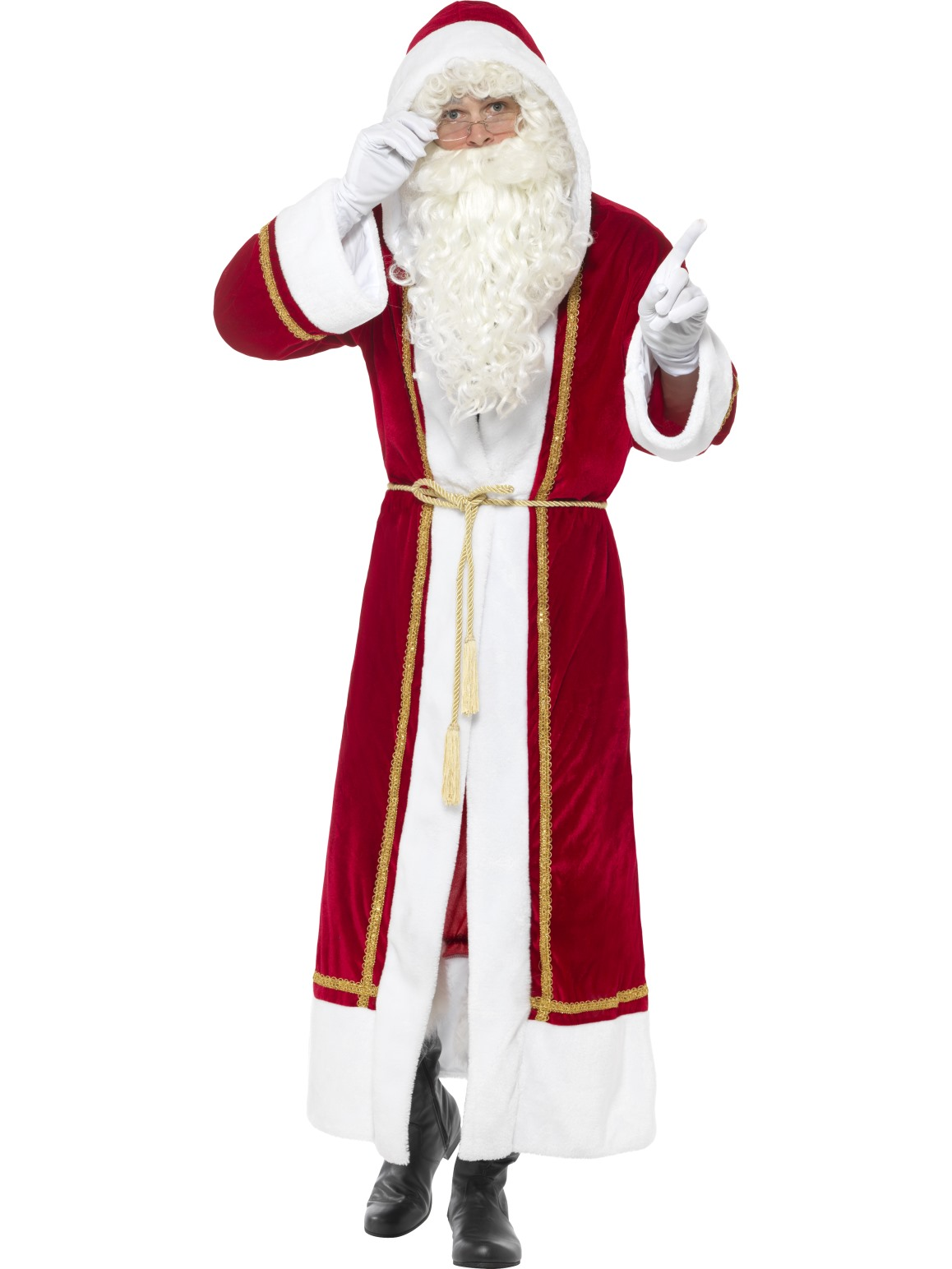 Image Is Loading Christmas Santa Costume Deluxe Professional Santa  Suits Fancy