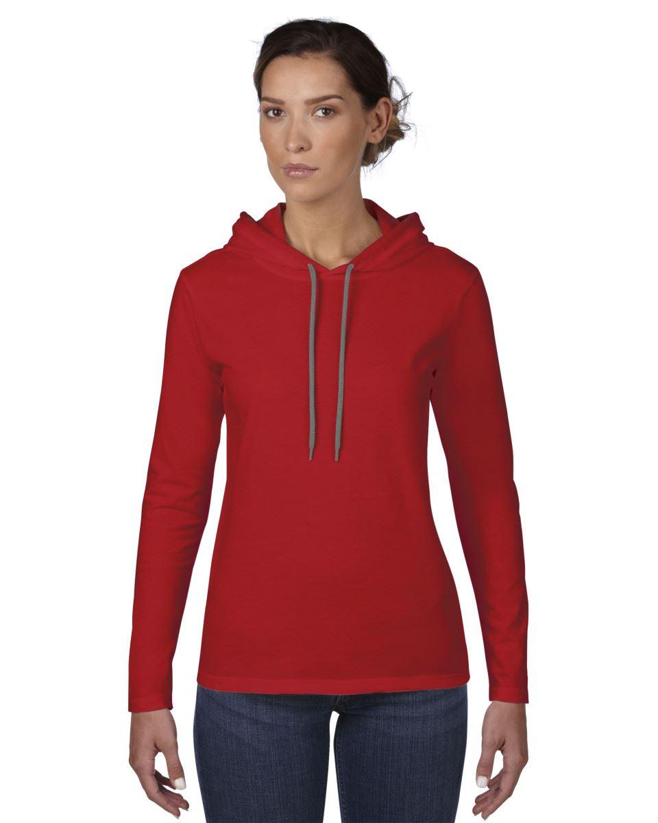 amboss sweatshirt pullover damen mode einfach lang rmlig mit kapuze t shirt ebay. Black Bedroom Furniture Sets. Home Design Ideas