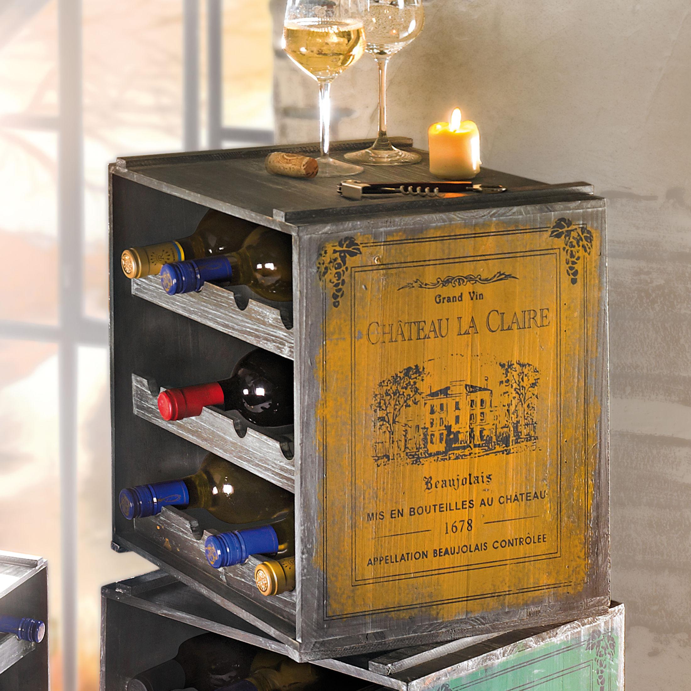 Porta vini in legno cantinetta porta bottiglie posti in - Mappamondo porta liquori ...
