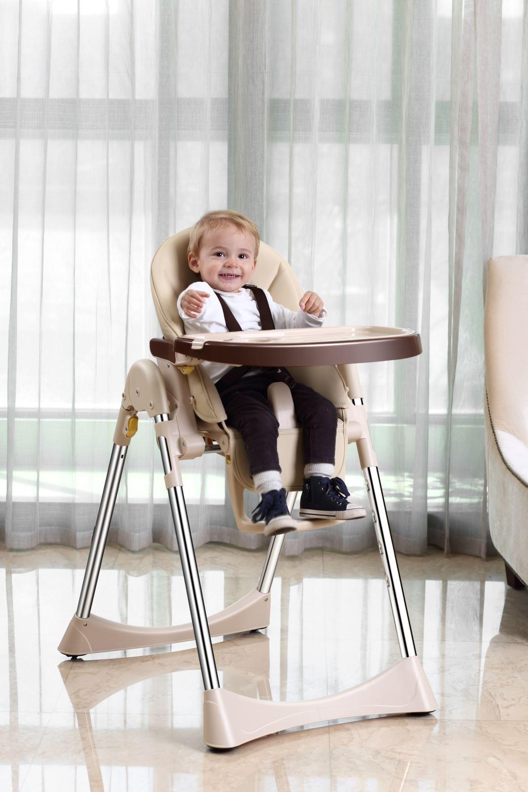 Velu b b enfant chaise haute alimentation compact cuir for Chaise haute pliable