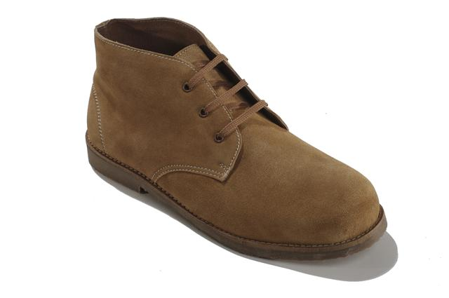 mens new wide 4e fitting desert boots brown
