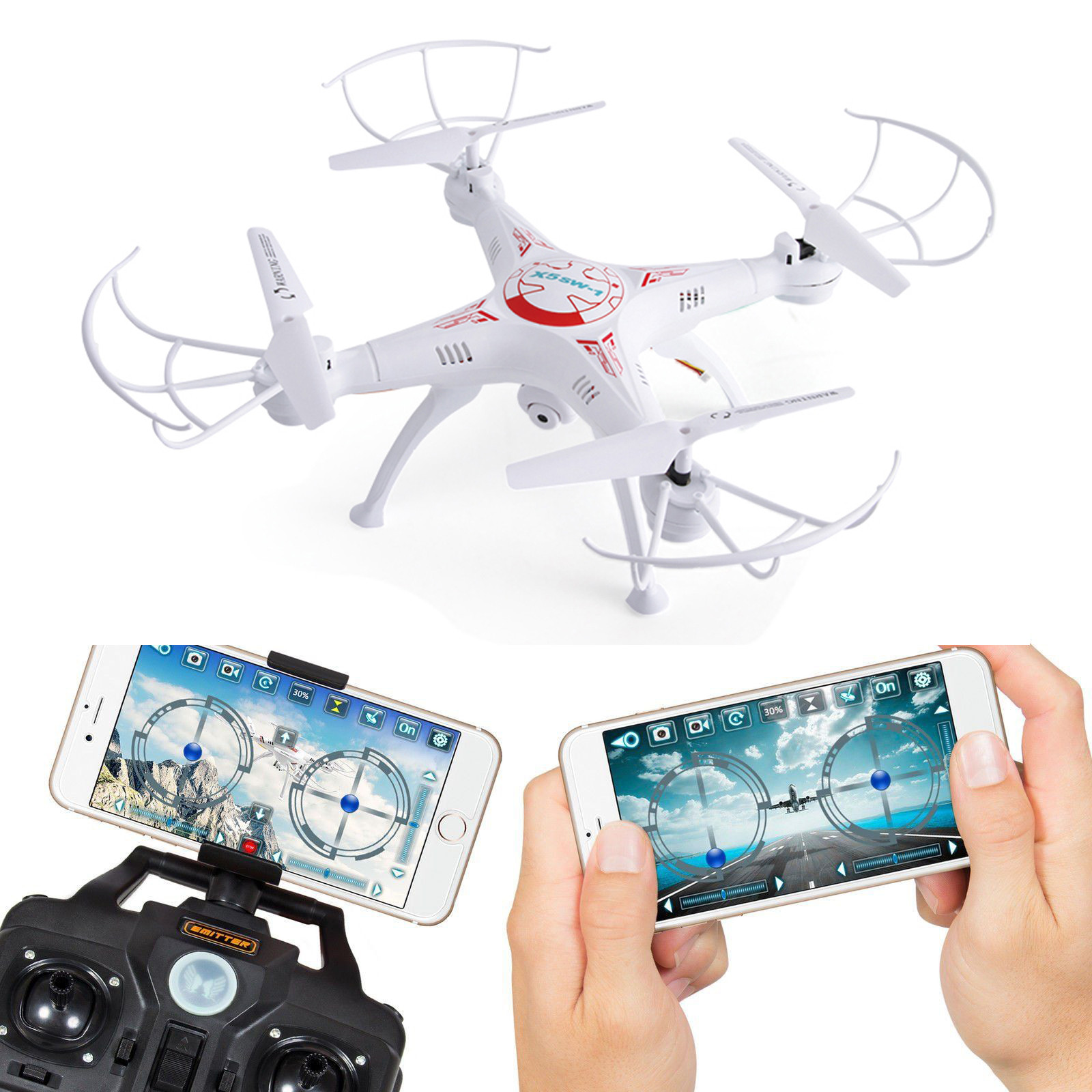 2-4-G-4CH-6-axes-FPV-RC-Drone-Quadricoptere-Wi-fi-Camera-Temps-Reel-Video-2