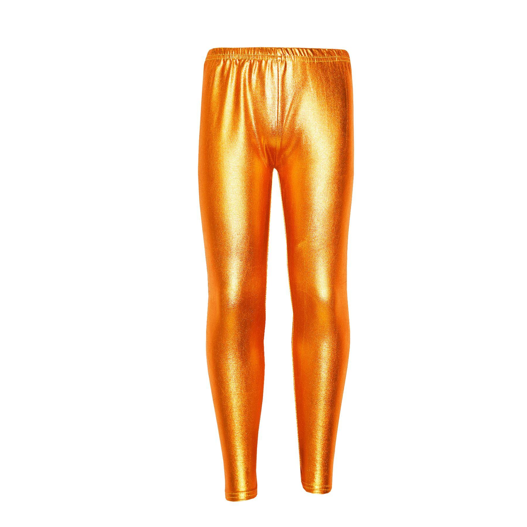 infantil-Leggings-nina-Metalizadas-Brillante-Disco-moderno-BAILE-Edad-4-13-ANOS