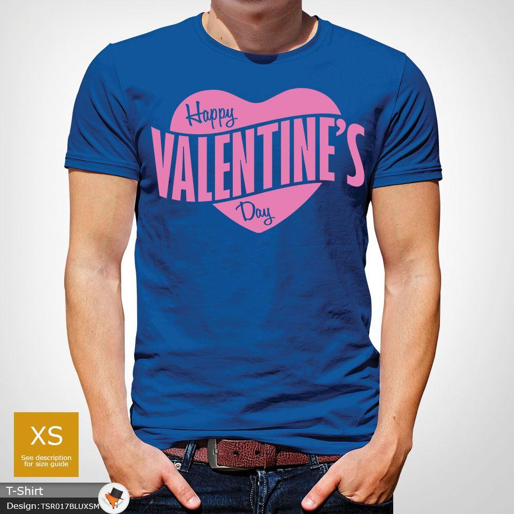 285a8025e Mens Boys Happy Valentines Day Heart Logo Party Designer T Shirt Top ...