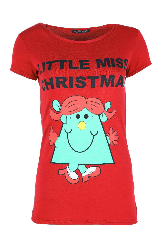 Damen-Weihnachten-T-shirt-Elfe-Kostuem-Candy-Klebe-