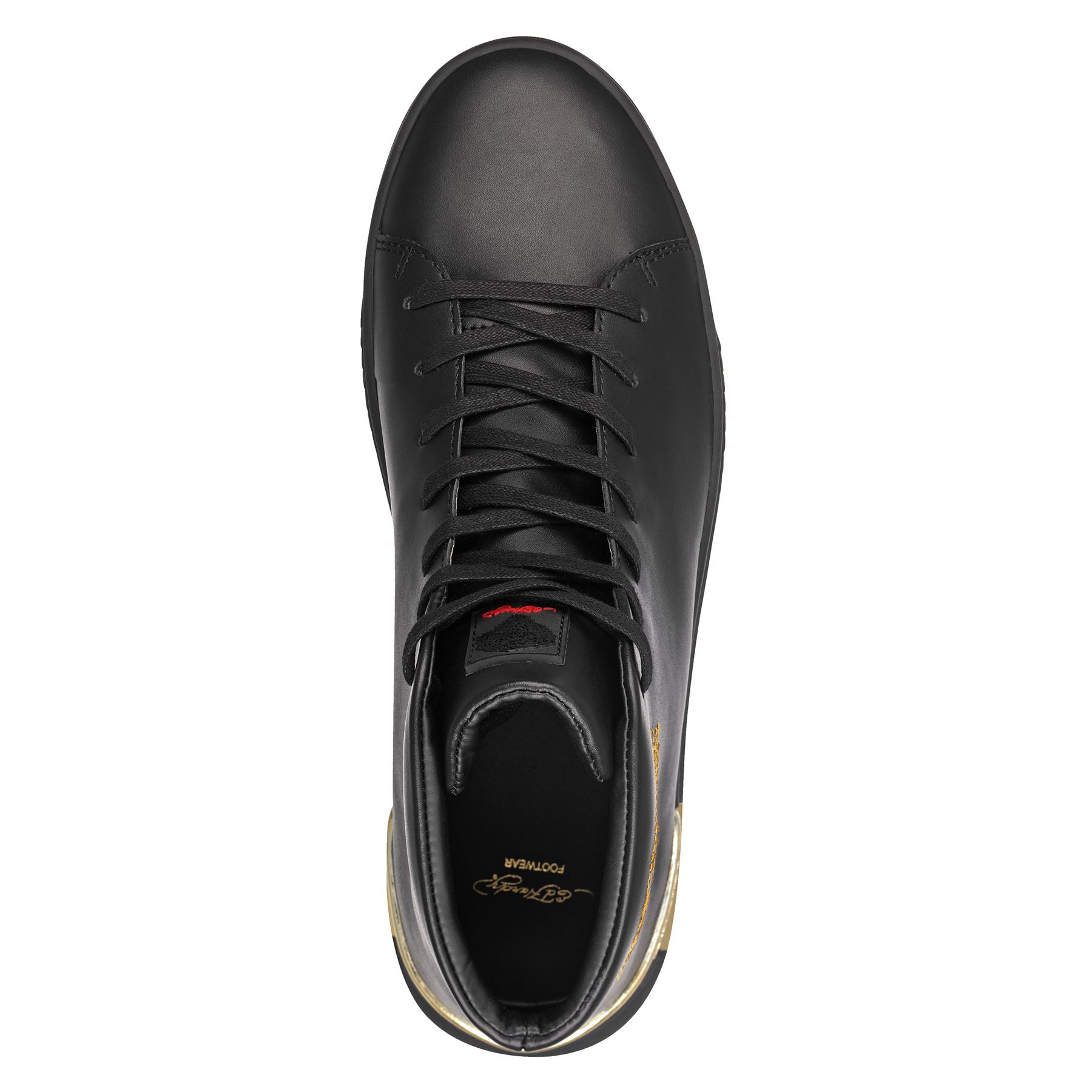 Ed Hardy Hardy Hardy Homme Bête Montant Broderie Imprimé Tigre Baskets Noires Chaussures e636ea