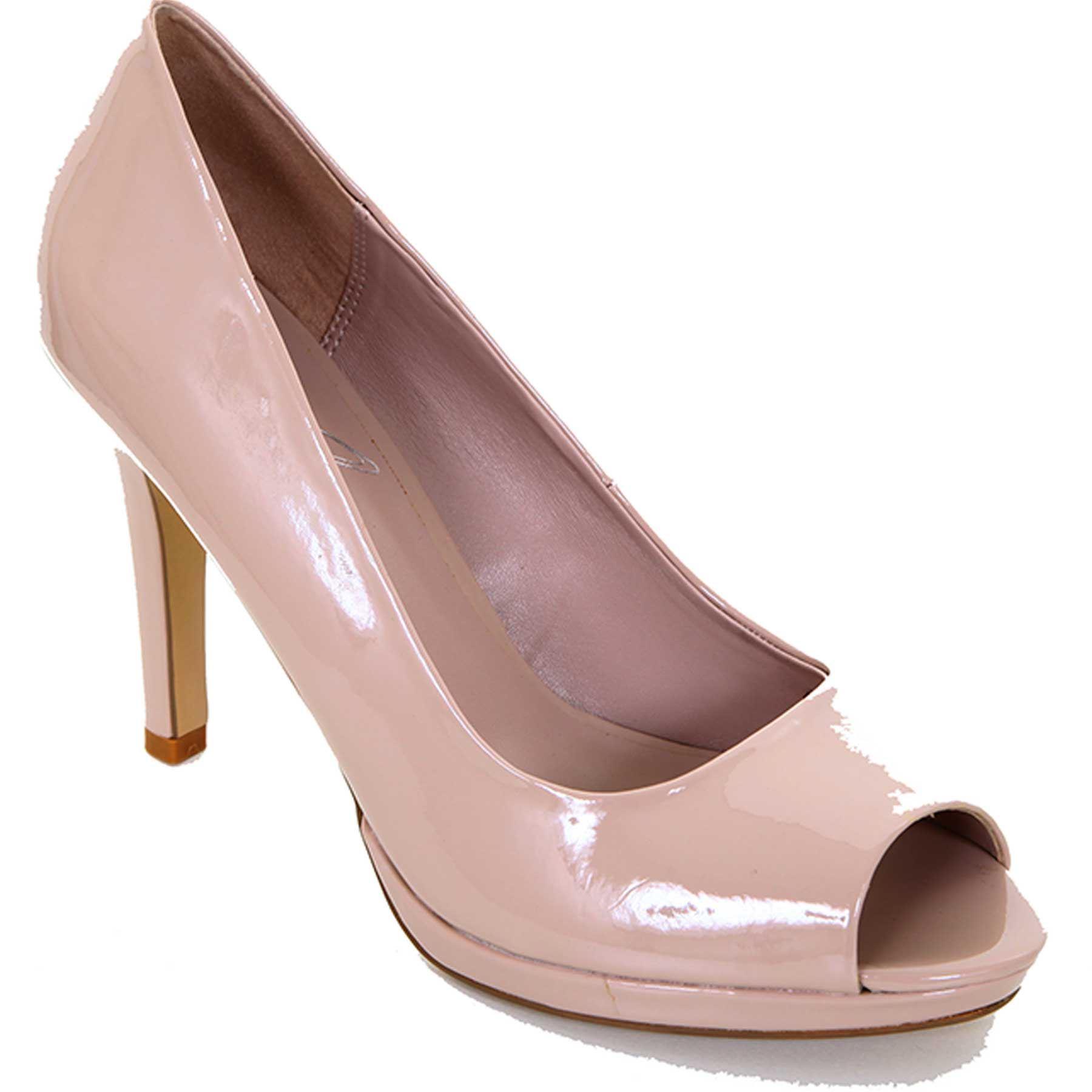 Damen Schwarz Hautfarben Lackleder Zehenfrei Schuhe Lässig Elegant Stilettos Schuhe Zehenfrei c813c0