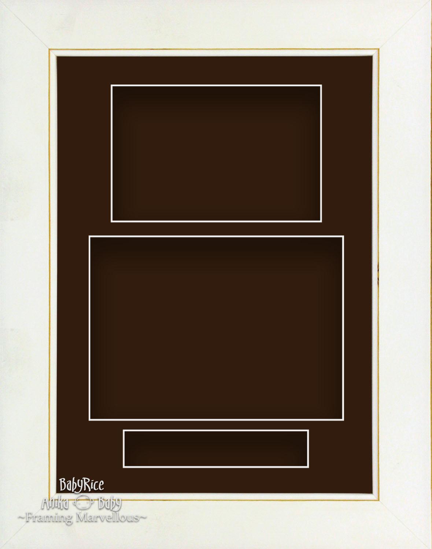 21.6cm x 29.2cm lavado Blanco Retrato Profundo Sombra Caja Marco de ...