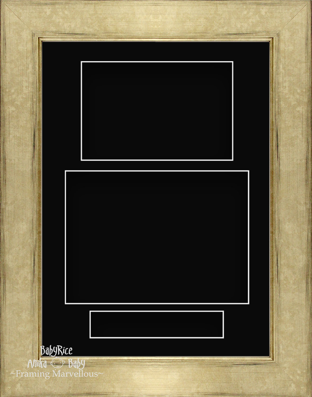 21-6cm-X-29-2cm-Champan-Retrato-Profundo-Shadow-Caja-Marco-de-Fotos-3-Soporte