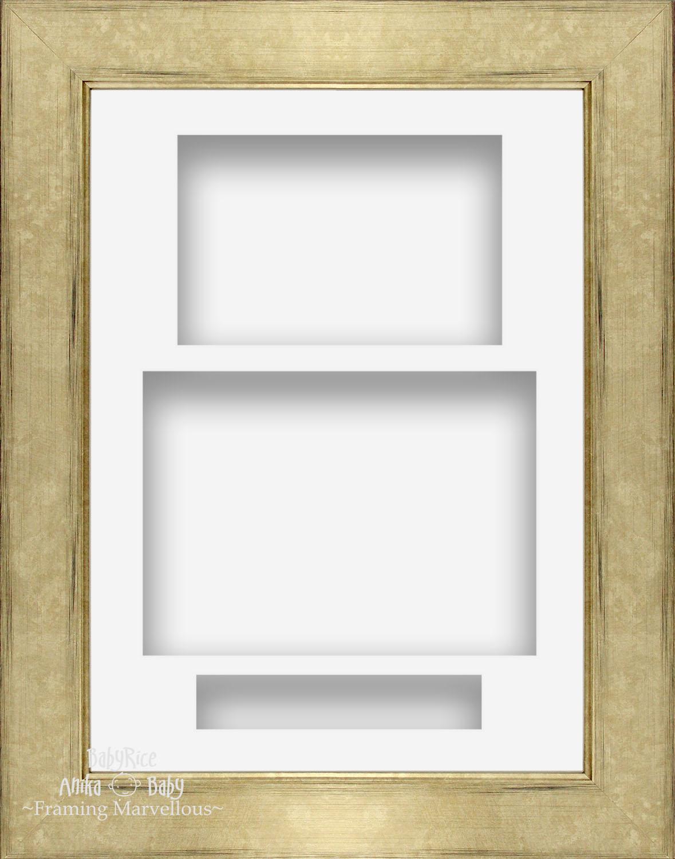 21-6cmx29-2cm-champan-Retrato-Profundo-Sombra-Caja-Marco-de-fotos-3-Soporte